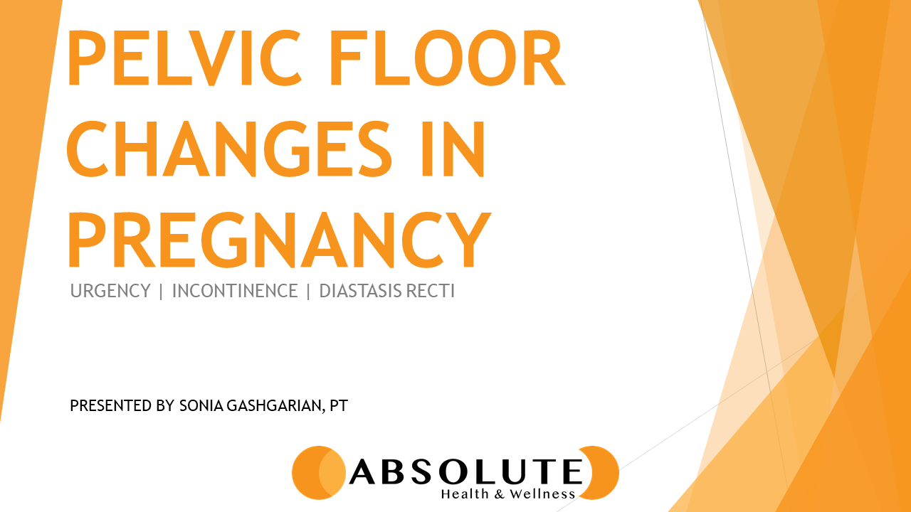 Pelvic Floor Changes in Pregnancy presentation offered by Absolute Health and Wellness in Paris Ontario