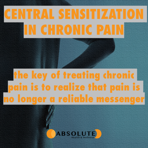 Central sensitization in chronic pain - the key of treating chronic pain is to realize that pain is no longer a reliable messenger